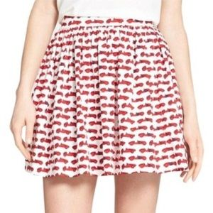 Kate Spade coreen monaco skirt with race car print